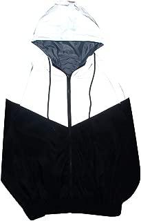 iNoDoZ Men Women Fashion Reflective Jacket Hoodies Harajuku Windbreaker Jackets Zipper Hooded Sweatshirt Streetwear Coat
