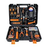 SOLUDE Home Repair Tools Sets,95 Pieces Handsaw General Household Hand Tool Kits with Plastic Toolbox Storage Case