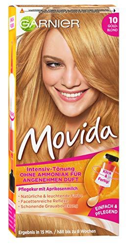 Garnier Movida 10 Goldblond, Haartönung für eine natürliche Haarfarbe, Ohne Ammoniak für einen angenehmen Duft (3 Stück)