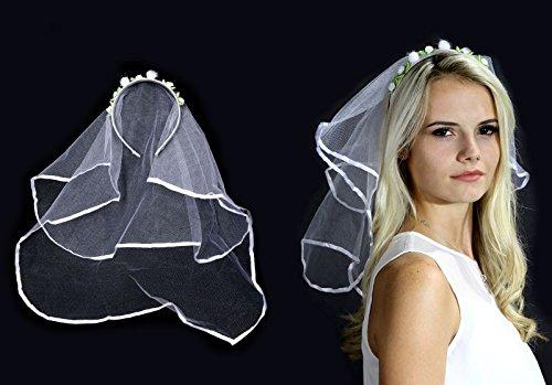 Voile de la mariée avec des peignes cheveux
