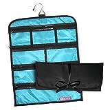 Tidybagz | Schmuckrolle | Reise & Zuhause Organizer | Sichere, elegante Lösung mit Reißverschluss für Schmuckorganisation | Große Tasche mit 7 Fächern