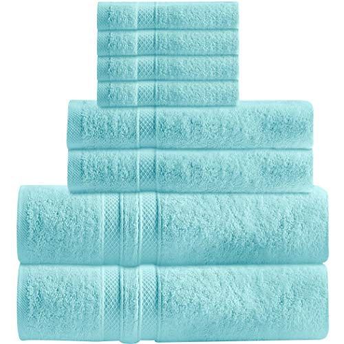 Luxury 8-Piece Towel Set Includes 2 Extra Large Bath Towels, 2 Hand Towels, 4 Washcloths Ringspun Cotton is Extra Absorbent and Super Soft