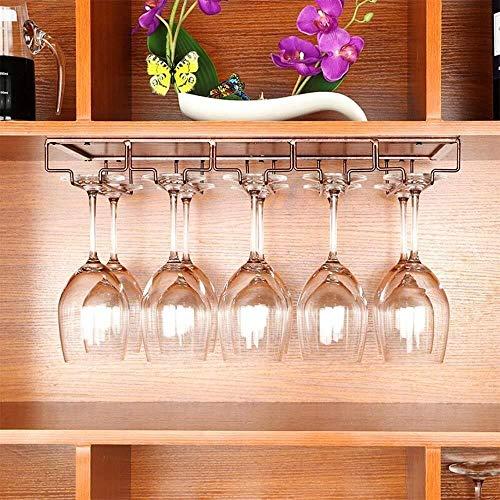 HJXSXHZ366 Estantería de Vino Vidrio, Hierro Forjado Estante del Vino Colgando Boca Abajo portavasos Plataforma Creativa de Vino Copa de Vino Estante de Cristal del Estante Estante de Vino pequeño