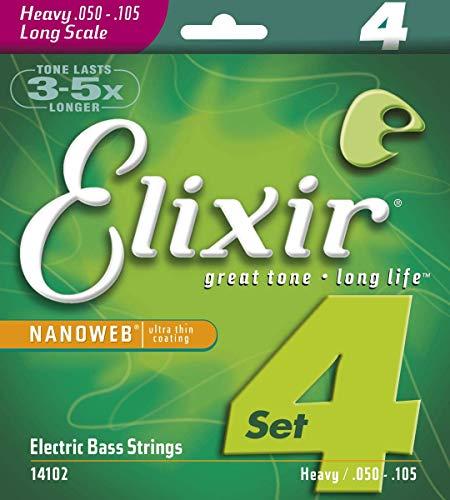 Elixir 14102 - Juego de cuerdas para bajo eléctrico.050-0.105