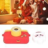 Cámara de Papá Noel, cámara de Dibujos Animados con música para niños, portátil para Tomar Fotos y Videos, niños y Adolescentes(Yellow, Pisa Leaning Tower Type)