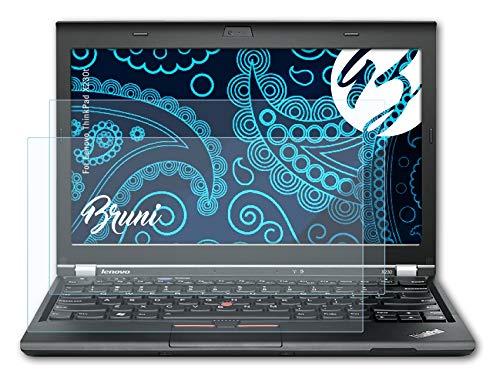 Bruni Schutzfolie kompatibel mit Lenovo ThinkPad X230t Folie, glasklare Displayschutzfolie (2X)