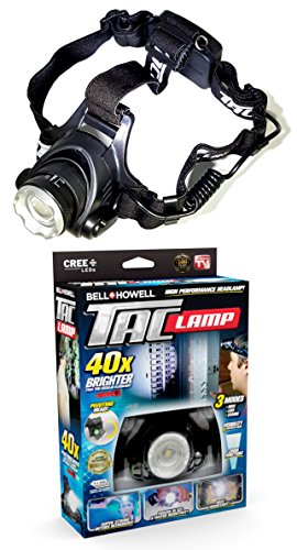 Bell + Howell Taclight Headlamp, Hands-Free Flashlight As Seen On TV (40x Brighter)