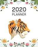 2020 Weekly And Monthly Planner: Daily Organizer & Agenda   Pretty Cute Tiger Lovers   Simple Dated Week and Month Calendar with Notes   Schedule ... (2020 Weekly and Monthly Tiger Planner