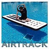 AQUAPARX Aufblasbare Yogamatte, AirTrack, Gymnastikmatte. 300-100-10cm (SUP-Technik)