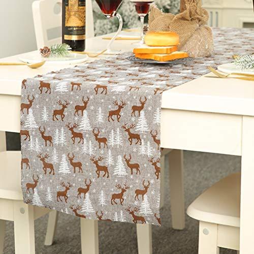 Kerstmis Printed Tafelkleed, Rechthoekige Eettafel Vlag Runner Gedrukt Kerstmis Boom/Sneeuwvlok Tafelhoes voor Kerstmis Party OneSize #6