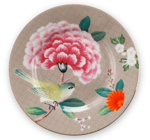 Pip Studio Teller Blushing Birds | khaki - 12 cm