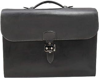 [エルメス] HERMES サックアデペッシュ38 マチ2 ビジネスバッグ ブラック ボックスカーフ [中古]