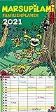 Marsupilami Familienplaner 2021: Monatskalender mit fünf Spalten pro Seite
