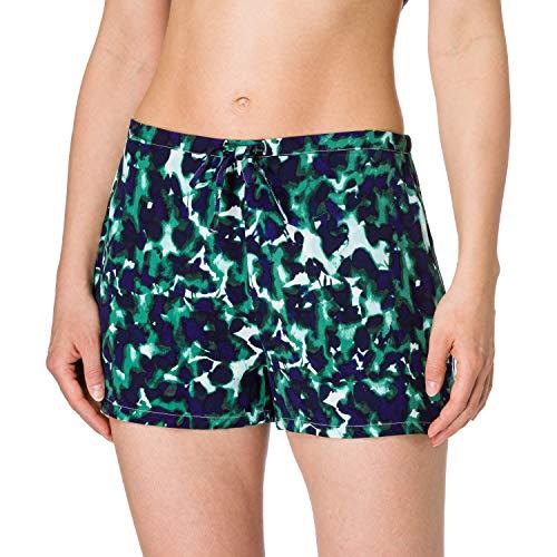 Calvin Klein Sleep Short Pantaln de Pijama, Remnants_Aqua Luster, M para Mujer