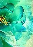 dicker TageBuch Kalender 2018 - FLOWER POWER: Jahresplaner - 365 Tage = 365 A4-Seiten