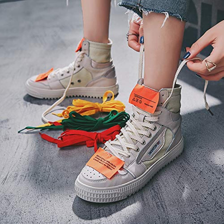 HOESCZS Damenschuhe Martin Stiefel Frauen Herbst Herbst Sportschuhe Street Shooting High Zu Helfen Casual Schuhe Lederschuhe Mode  authentische Qualität