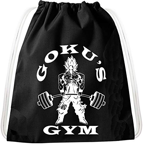 Golds Gym Goku Dragon Zaino Borsa da palestra Borsa da juta sportiva, Zaino