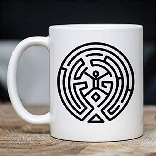 N\A Divertida Taza de café Nerdy - Westworld Maze Novelty Coffee Mug
