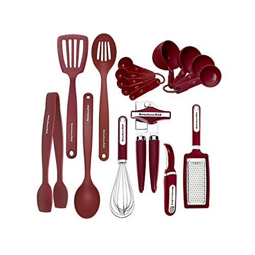 KitchenAid Classic 17-piece Tools and Gadget Set, Red