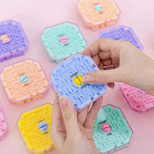 DishyKooker 10-seitige 3D Labyrinth Ball Rolling Bead Intellekt Puzzle Gleichgewichtstraining Brain Tester Toy Game articulos de producto