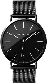 Daisya 腕時計メンズ シンプル 日本製ムーブメント クォーツ時計 100%検品 合金 生活防水 日本製電池採用 カジュアル ファッション ビジネス ブラック 3年保証
