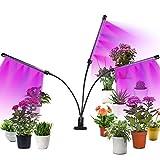 CPROSP Lámpara de Plantas Luz de la Planta 30W 60 LEDs Full Spectrum con Adaptador 3 Modos de Lluminación 5 Niveles Regulables, Rotación de 360° y Función de Temporizador