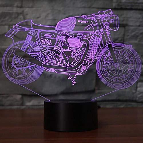 JYHW 3D verwisselbare decoratie nachtlampje motorfiets modelbouw stemming LED motorfiets vorm USB-lamp tafellamp slaaplicht verlichting kerstcadeau