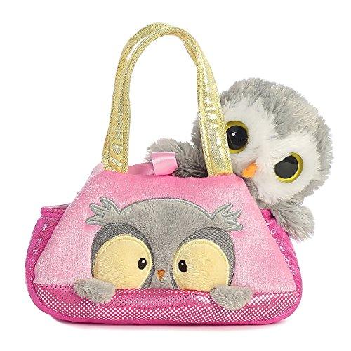 Aurora World Fancy Pals Peek-A-Boo Owl Pet Carrier,7 inches