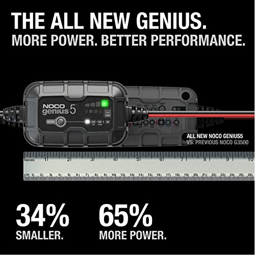 NOCO GENIUS5UK, 5-Amp Fully-Automatic Smart Charger, 6V and 12V Battery Charger, Battery Maintainer, and Battery…