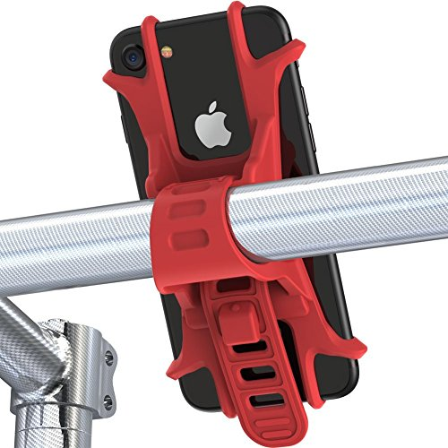 Somercliffe & Sons | Smartphone Halterung Fahrrad | Fahrrad Handy-Halterung | iPhone X, 8, 7, 6, Samsung Galaxy S8, S7 (rot)