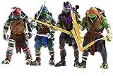SNFHL 4 Tortugas Ninja Mutantes Adolescentes, Muñeca Manga de La Edad de Transformación, Modelo de Juguete para Niños  , 15cm,15cm-Onecolor