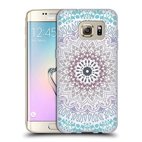 Head Case Designs Licenza Ufficiale Nika Martinez Estate Blu Mandala Cover in Morbido Gel Compatibile con Samsung Galaxy S7 Edge
