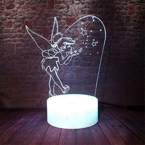 Lámpara de ilusión 3D para regalo de Navidad, luz nocturna, campana de 16 colores cambiantes con mando a distancia, regalo de cumpleaños y vacaciones para niños y niñas