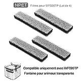 NPET Filtre de Remplacement Fontaine à Eau Automatique pour Chat et Chien WF020TP Lot de 4