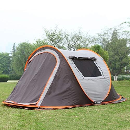 LIZHAIMING Schnell Offen Familie REGT Fest Und Sonnenschutzzelt, Verdickte Versilberte Oxford Tuch Zelt, Zweilagige Wandern Camping Outdoor-Lieferungen 3-4 Personen,B