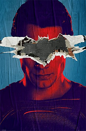Batman v Superman Teaser Maxi Poster, Holz, Mehrfarbig