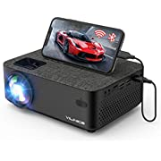 """Mini Projector, Vili Nice 5000L Outdoor Movie WiFi Projector with Synchronize Smart Phone Screen,1080P and 240"""" Supported, Compatible with Fire Stick,HDMI,VGA,USB,TV,Box,Laptop,DVD"""