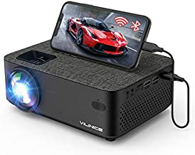 WiFi Projector,VILINICE 5000L Mini Bluetooth Movie Projector ,Portable Phone Projector with Wireless Mirroring,1080P and 240