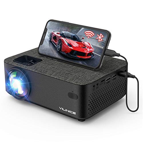 Mini Projector, Vili Nice 5000L Outdoor Movie WiFi Projector with Synchronize Smart Phone Screen,1080P and 240' Supported, Compatible with Fire Stick,HDMI,VGA,USB,TV,Box,Laptop,DVD