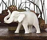 White Ceramic Elephant Tabletop Statue Home Decor Indoor Outdoor Sculptures African Wild Animal Figurines Office Ornament Decorative