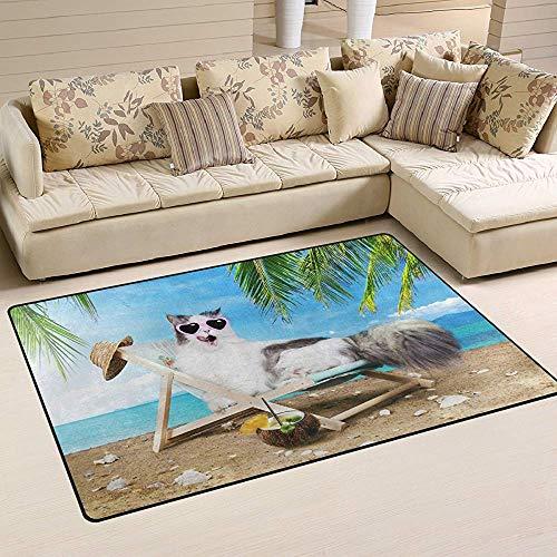 Ozean Meer Strand Lustiges Tier Hundebereich Teppich Teppiche rutschfeste Fußmatte Fußmatten Wohnzimmer Schlafzimmer