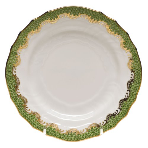 Herend Fish Scale Light Green Porcelain Bread and Butter Plate