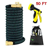 Expandable Garden Hose, Newest Expandable Strongest Magic Hose Pipe with Solid Brass Fittings
