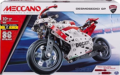 MECCANO - DUCATI MOTO GP - Superbe Réplique Moto Ducati GP - Coffret Inventions Avec 350 Pièces Et 2 outils - Jeu de Construction - 6044539 - Jouet Enfant 10 Ans et +