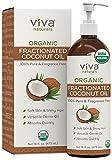 Viva Naturals Organic Fractionated Coconut Oil for Hair, Skin And Versatile Carrier Oil - 16 fl oz