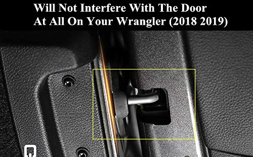 YOCTM Door Lock Decoration Cover For 2018 2019 2020 Jeep Wrangler JL JLU Unlimited Sahara Sports Rubicon 2020 Gladiator JT Door Lock Cover Sticker Auto Parts Accessories Black ABS (4Door) (Pack of 6)