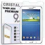 REY Protector de Pantalla para Samsung Galaxy Tab 3 7' T210 Cristal Vidrio Templado Premium