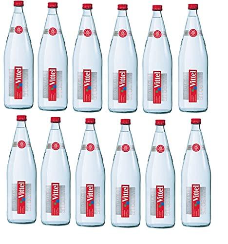 12 Glas Flaschen Vittel a 1 L ink. 1,80€ MEHRWEG Pfand Natürliches Mineralwasser