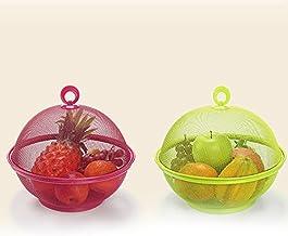 Hrsptudorc Couleur aléatoire en maille Iron Fruit Basket Stockage de cuisine Rack de rangement Table de salle à manger Déc...