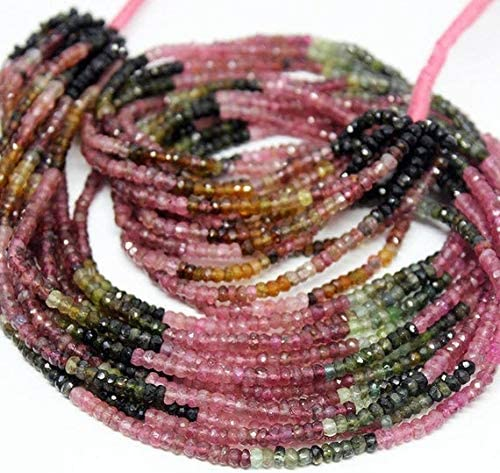 GemAbyss Beads Gemstone Bargain sale NEW before selling ☆ Watermelon Tourmaline Multi Face Natural